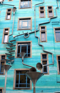 tuberías pluviales arte